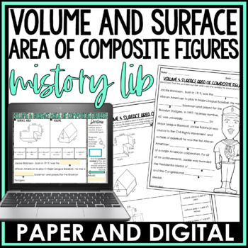 Volume and Surface Area of Composite Figures Mistory Lib
