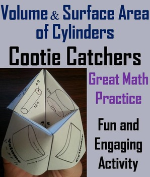 Volume and Surface Area of Cylinders Practice Activity (Scoot Unit Review Game)
