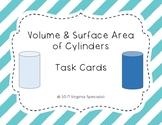 Volume and Surface Area of Cylinders Task Cards