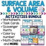 Volume and Surface Area of Prisms and Pyramids BUNDLE