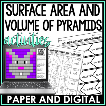 Volume and Surface Area of Pyramids Activity Pack