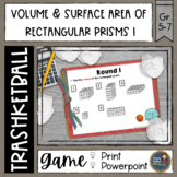 Volume and Surface Area of Rectangular Prisms 1 Trashketball Math Game