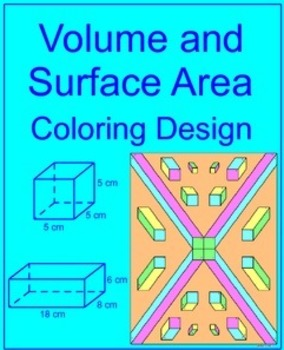 Volume and Surface Area of Rectangular Prisms - Coloring Activity #1