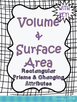 Volume and Surface Area of Rectangular Prisms Doodle Notes