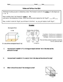 Volume and Surface Area of Rectangular Prisms (Nets)