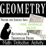 Volume and Surface Area of Prisms Digital Detective