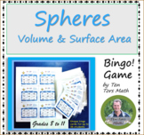 Volume and Surface Area of Spheres Bingo Game Activity