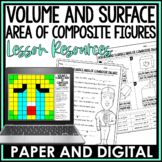 Volume and Surface Area of Composite Figures Lesson Bundle | Distance Learning