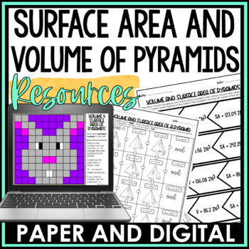 Volume and Surface Area of a Pyramid Lesson Bundle