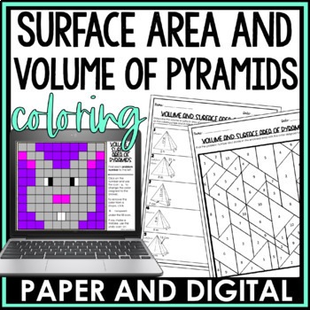 Volume and Surface Area of a Pyramid Coloring Page