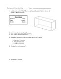 Volume and Surface Area of a Rectangular Prism Quiz