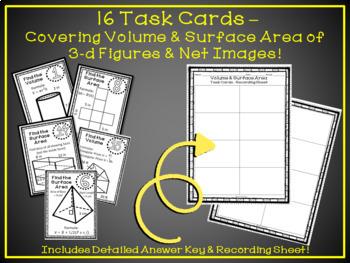 Volume and Surface Area of 3d Figures Mini Bundle