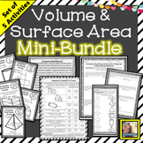Volume and Surface Area of 3d Figures Mini Bundle