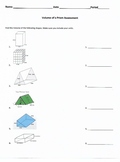 Volume assessment for a Rectangular and Triangular Prism