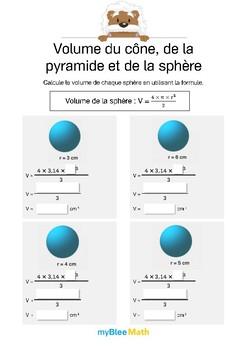 Volume du cône, de la pyramide et de la sphère 4 -Sphère