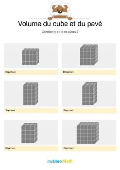 Volume du cube et du pavé 1 -Compter le volume à l'aide de cubes