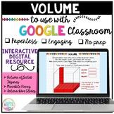Volume of Rectangular Prisms for Google Classroom