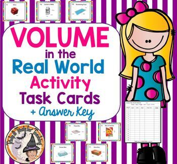 Volume in the Real World Math on Move Activity Stations Task Cards