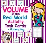 Volume in the Real World Task Cards Activity Math on the Move + Answer Key