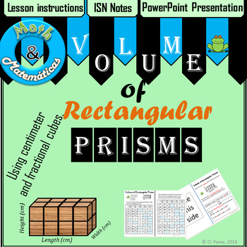 Volume lesson: ISN Notes and Practice Along with PowerPoint Presentation.