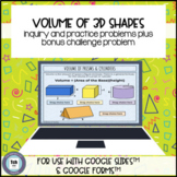 Volume of 3D Figures for use with Google Slides™ & Forms™