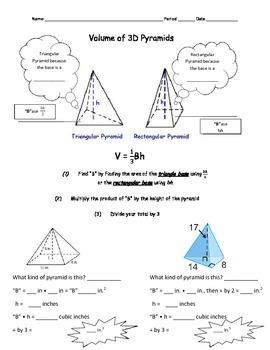 Volume of 3D Pyramids