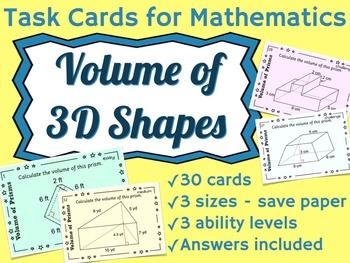 Volume of 3D Shapes - Prisms