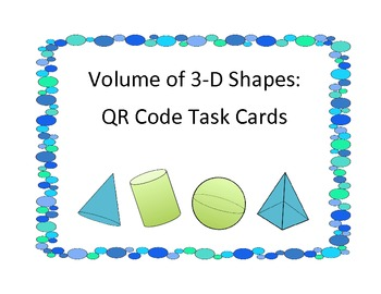 Volume of 3D shapes with QR codes