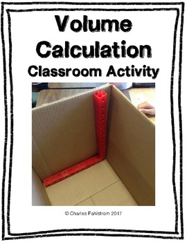 Volume of Cardboard Boxes Classroom Activity