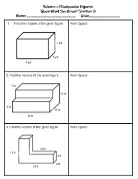 Volume of Composite Figure Quiz