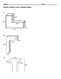 Volume of Composite Figure Worksheet