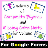Volume of Composite Figures and Volume with Missing Cubic Units Self Graded Math