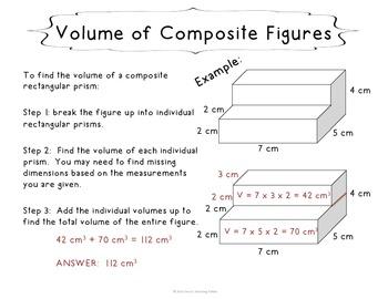 Volume of Composite Rectangular Figures Task Cards - 5th