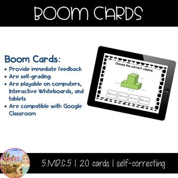 Volume of Composite Rectangular Prisms - Boom Cards