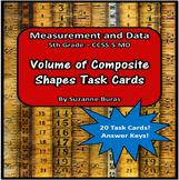 Volume of Composite Rectangular Prisms Task Cards: 5.MS.5c