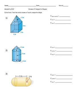 Volume of Composite Shapes