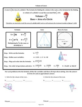 Volume of Cones