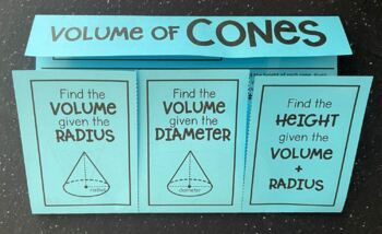 Volume of Cones (Foldable)