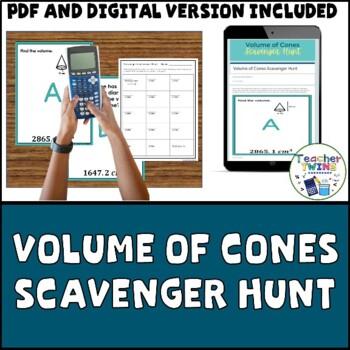 Volume of Cones Scavenger Hunt