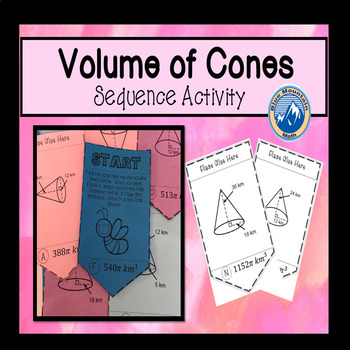 Volume of Cones Sequence Activity