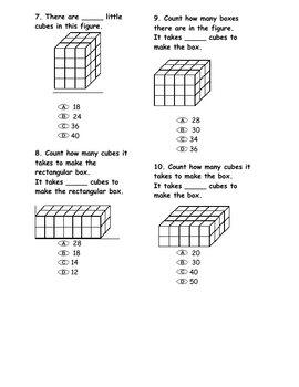 Volume of Cubes Assessment