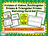 Volume of Cubes, Rectangular Prisms & Triangular Prisms Ma