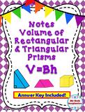 Volume of Cubes, Rectangular Prisms and Triangular Prisms