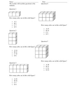 Volume of Cubes Worksheet