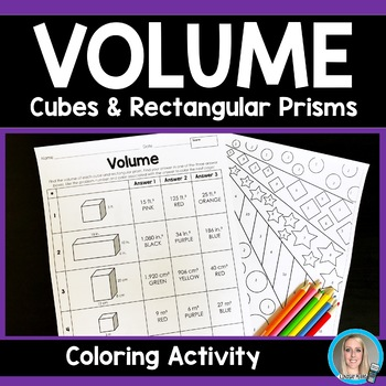 Volume of Cubes and Rectangular Prisms Coloring Activity