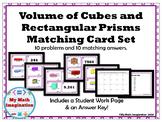 Volume of Cubes and Rectangular Prisms Matching Card Set -