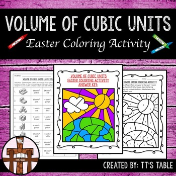 Volume of Cubic Units Easter Coloring Activity