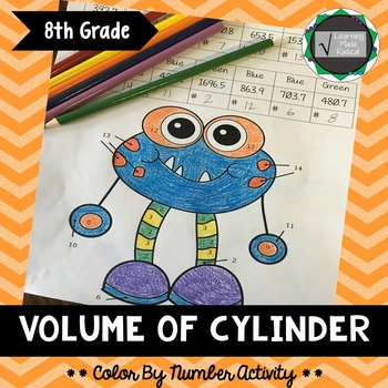 Volume of Cylinder Color By Number Activity {CCSS 8.G.C9}