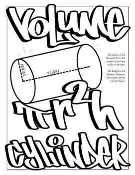 Volume of Cylinder, Cone, Sphere Posters