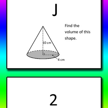 Volume of Cylinder, Cone, Sphere Round Robin 8th grade
